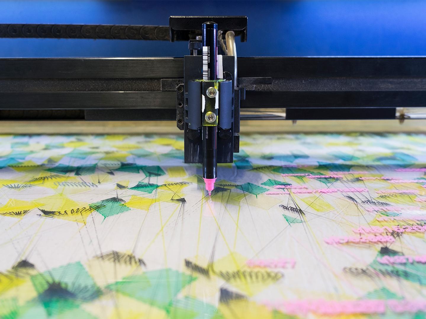Blick in den Laser des dritten Musters