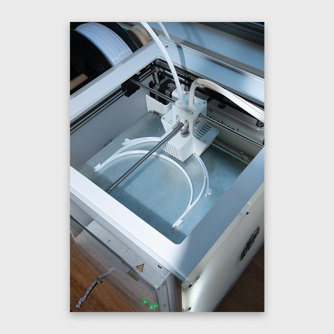 Blick in einen FDM-Drucker
