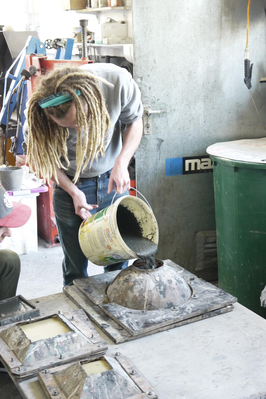 Beton-Workshop in der Werkstatt von Jennifer Paul