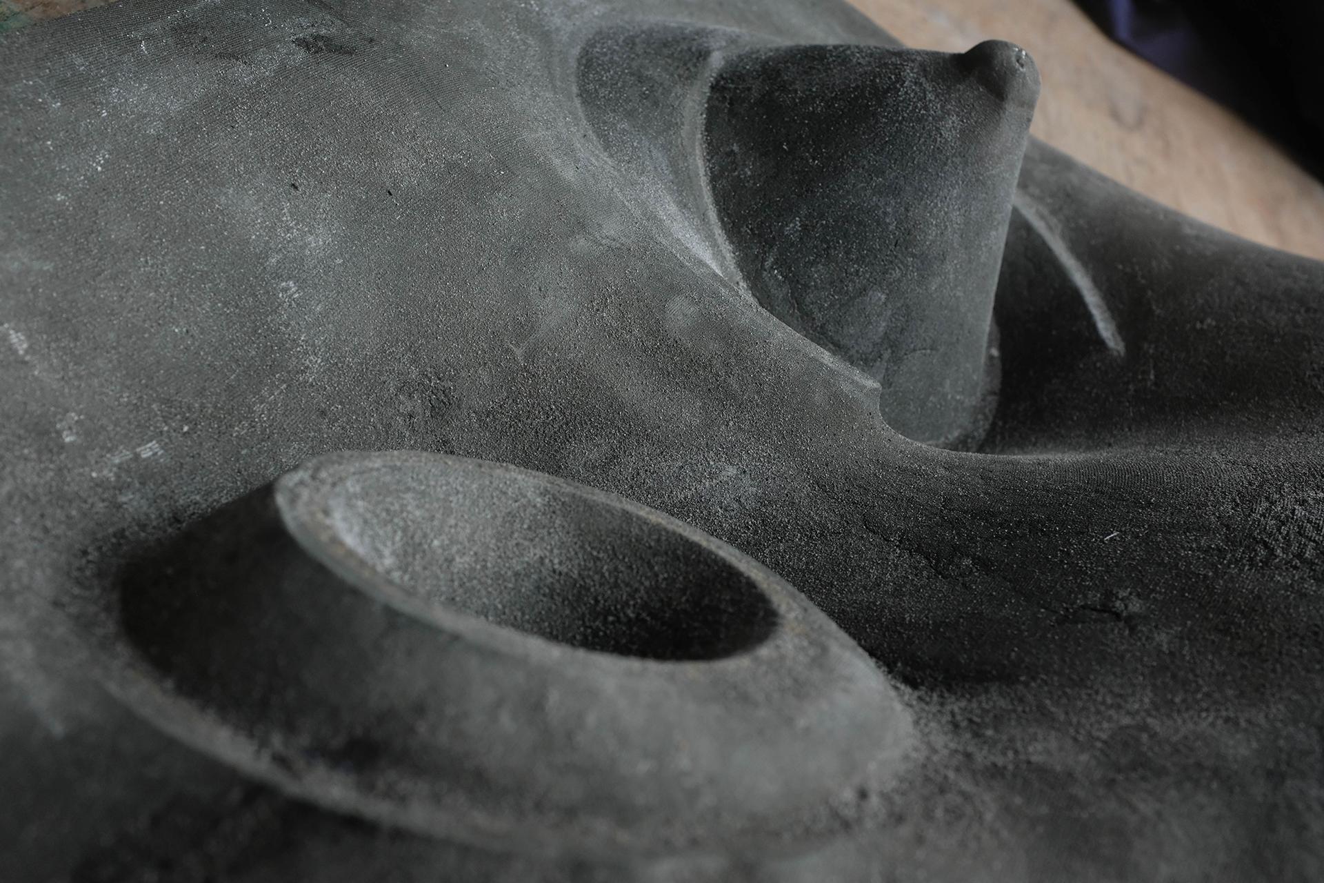 Betonabguss der textilen Schalung