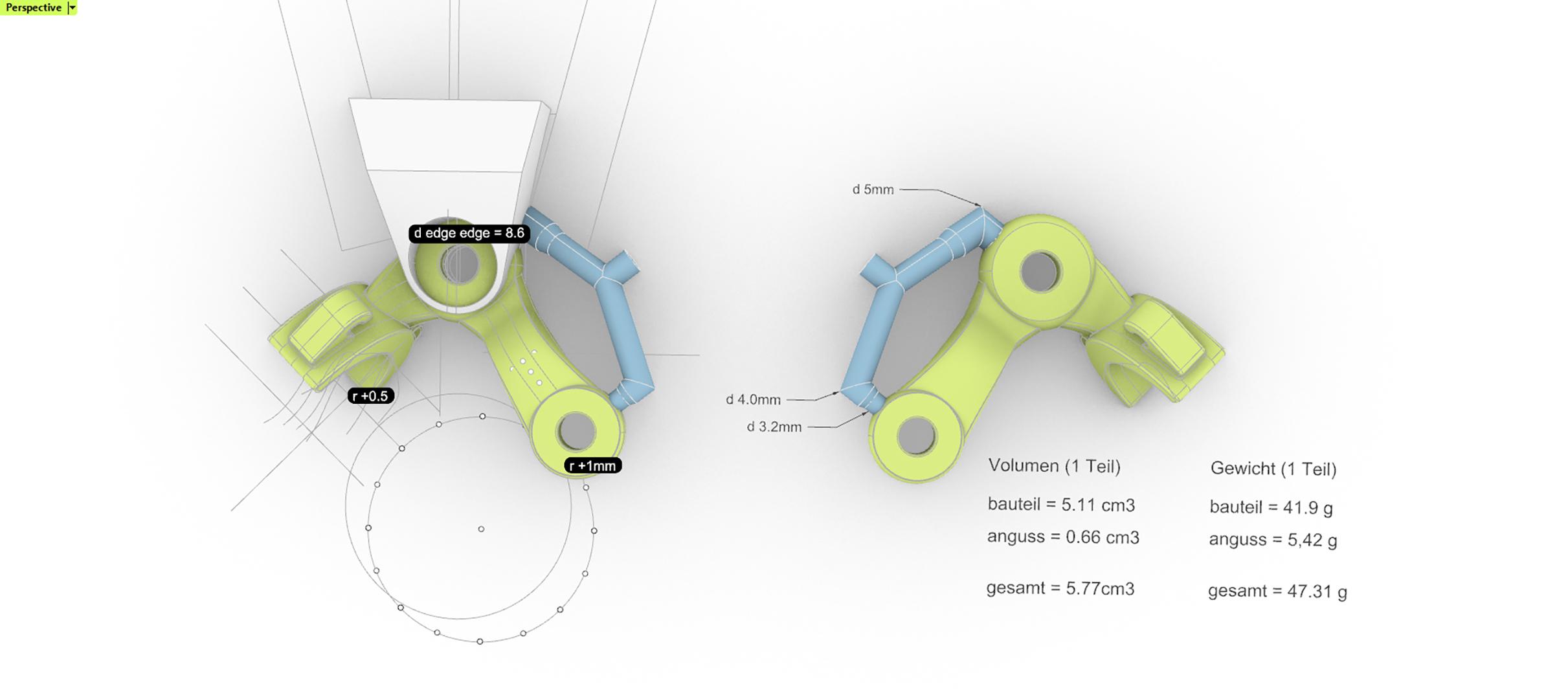 Perspektivische Ansichten CAD Modell Drucke