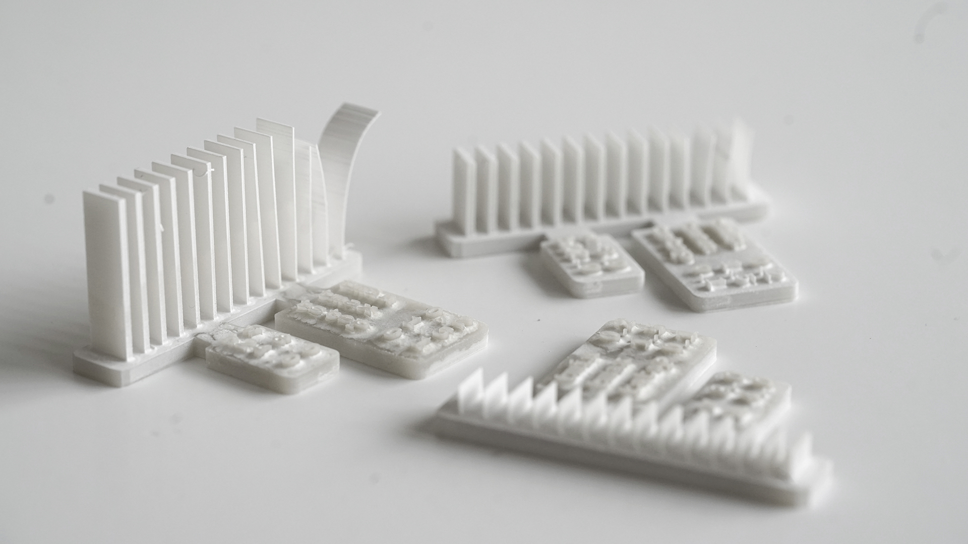 Gedruckter und getrockneter Probekörper zur Ermittlung von Parametern für ungestützte Wände mit schlanker Breite