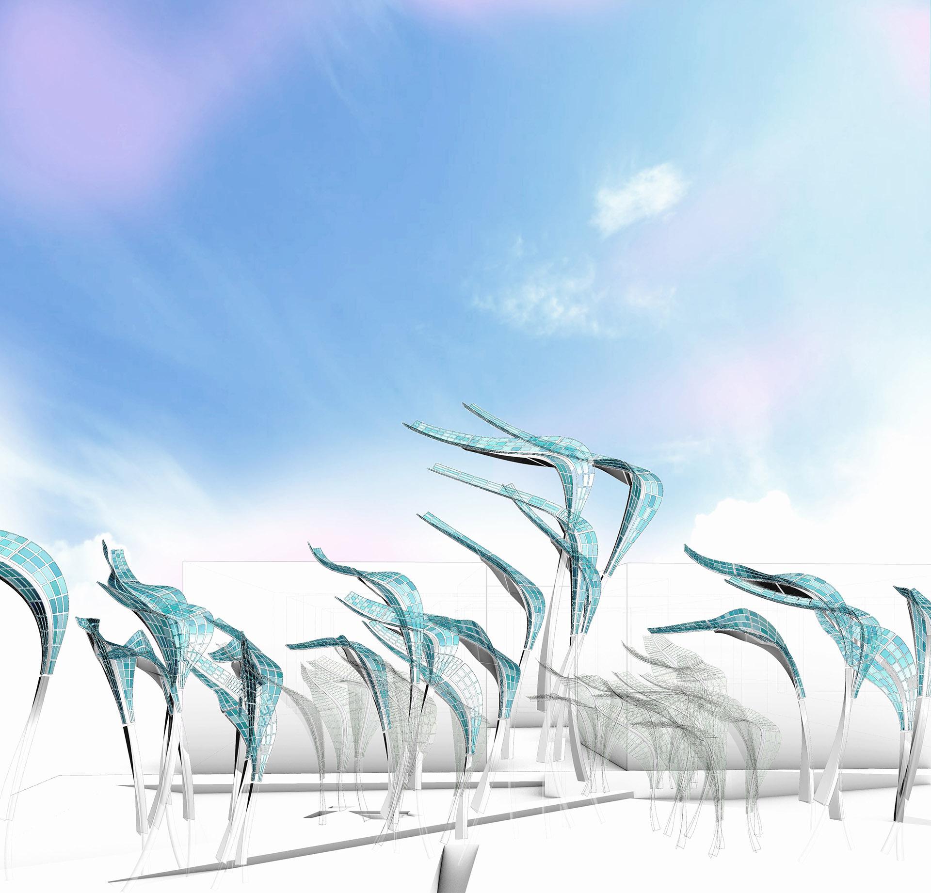 Detailansicht des Solar Grass