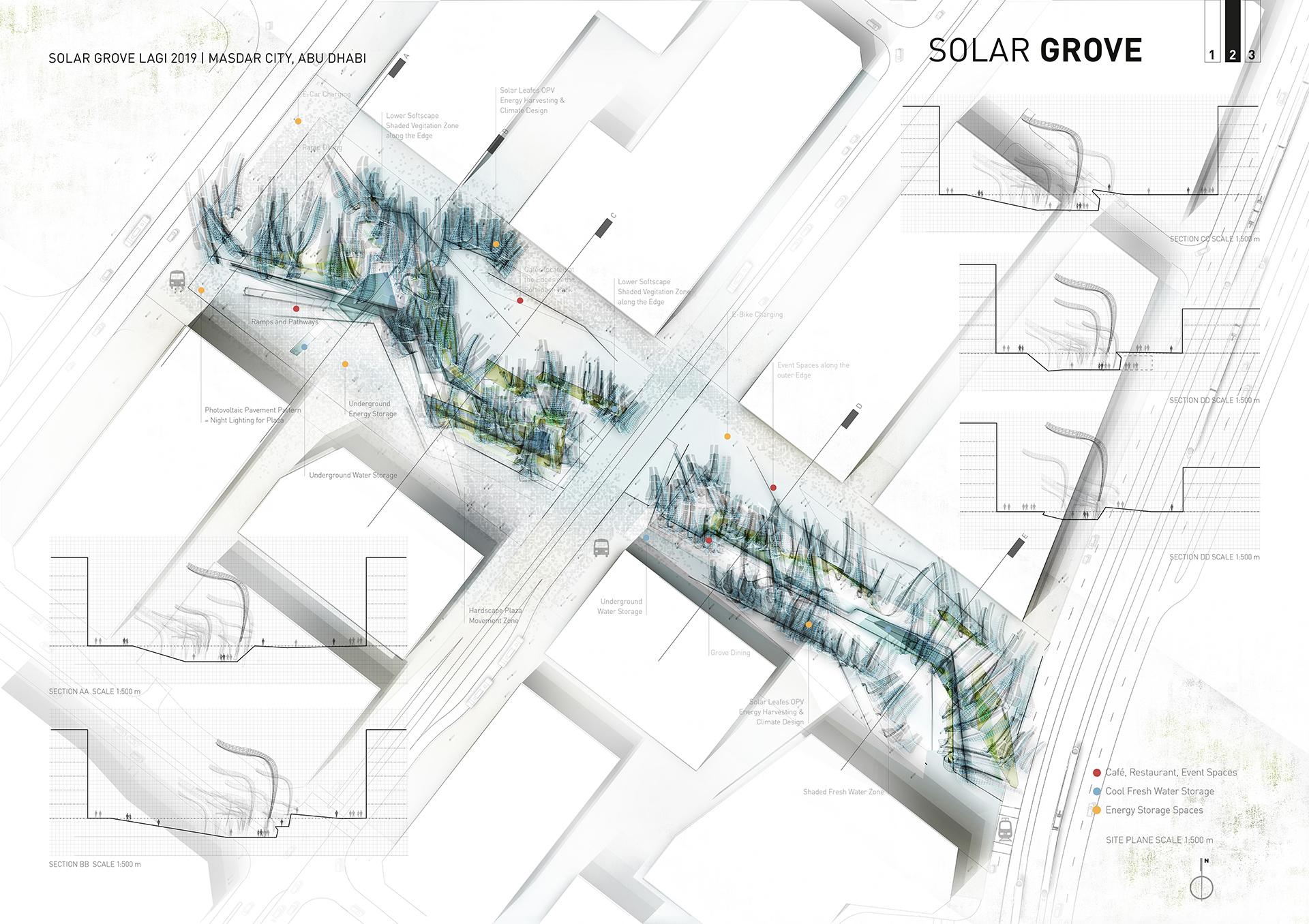 Lageplan des Standortes in Masdar City